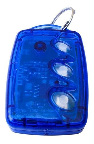 3 controle remoto 3 teclas linear hcs 3tb azul