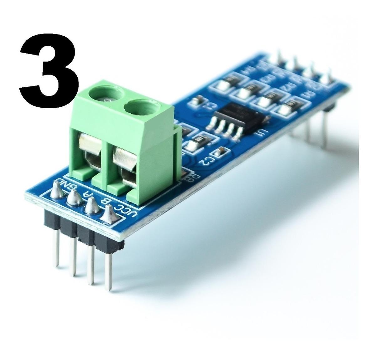 3 Conversor Rs485 Serial Max485 Pra Arduino Nodemcu Esp32