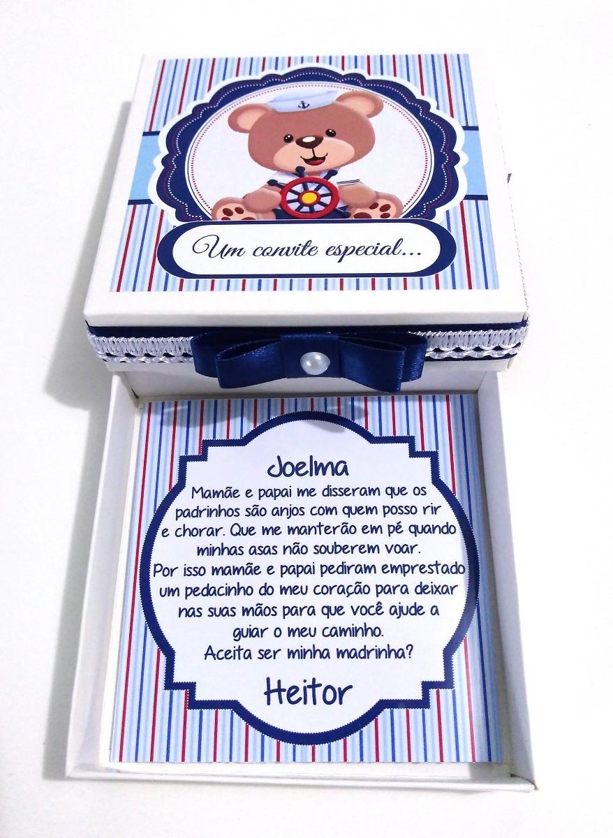 3 Convite Padrinhos Batizado Ursinhos R 2999 Em Mercado Livre