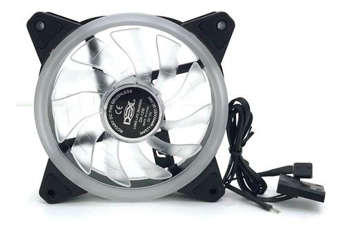 3 cooler fan dupla face 120mm c/18leds rgb p/gabinete pc cpu