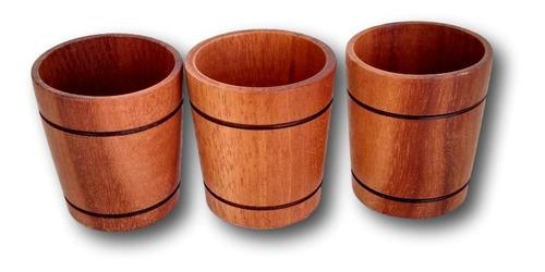 3 copinho de madeira torneado 40 ml aperitivo ref.0318