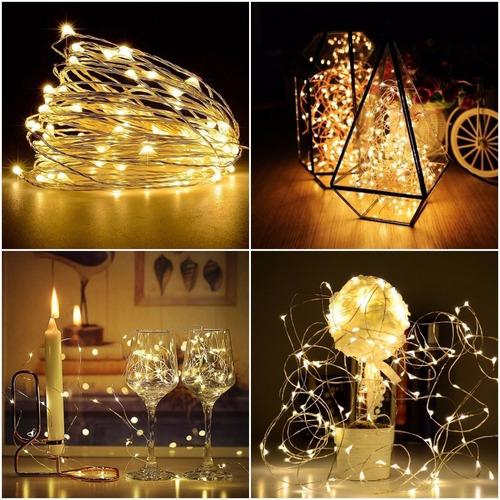 3 cordão luz fio de fada 3m 30 led fairy light branco quente