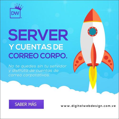3 correo corporativos + 3gb + dominio .ve