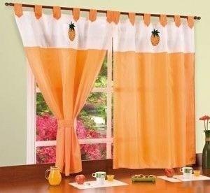 3 cortinas de cocina 2 pa os x varios colores for Cortinas de cocina precios
