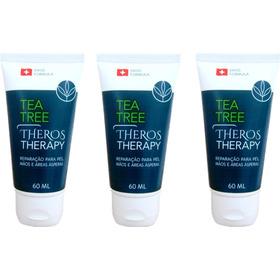 3 Creme Tea Tree Rachaduras Frieiras Unhas Áreas Ásperas