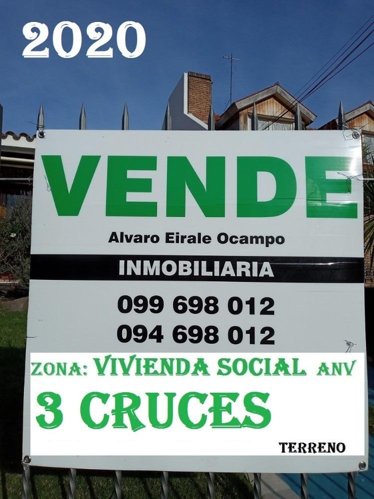 3 cruces: frente x 3 calles 1.500 m2* vis