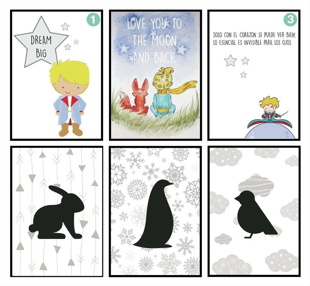 3 Cuadros Para Niños De Animalitos 15x21 Cm - $ 621,00 en Mercado Libre