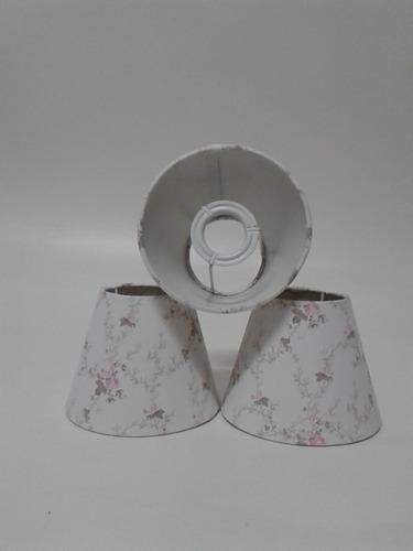 3 cúpulas sarah para lustre para quarto infantil