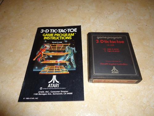3-d tic-tac-toe + instructivo original atari 2600 +++