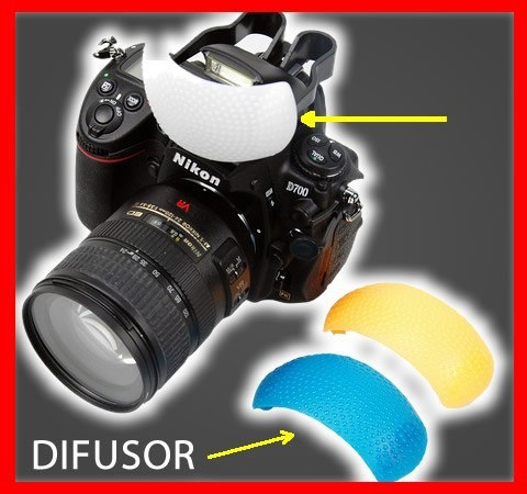 3 difusores para flash integrado cámaras canon nikon
