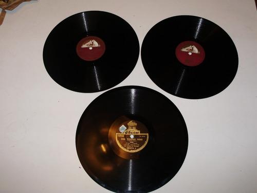 3 disco pasta 10'' jean sablon 78 rpm master's voice odeon