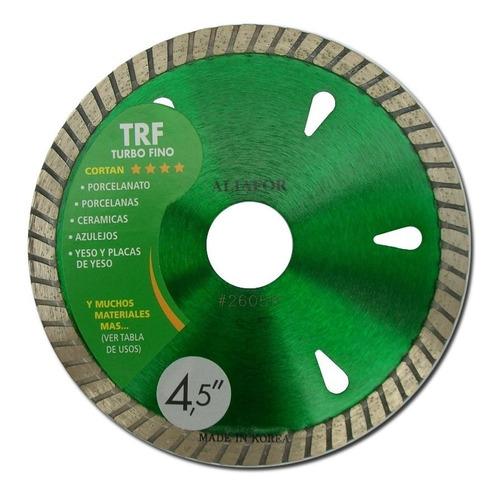 3 discos diamantado aliafor turbofino  trf 115mm porcelanato