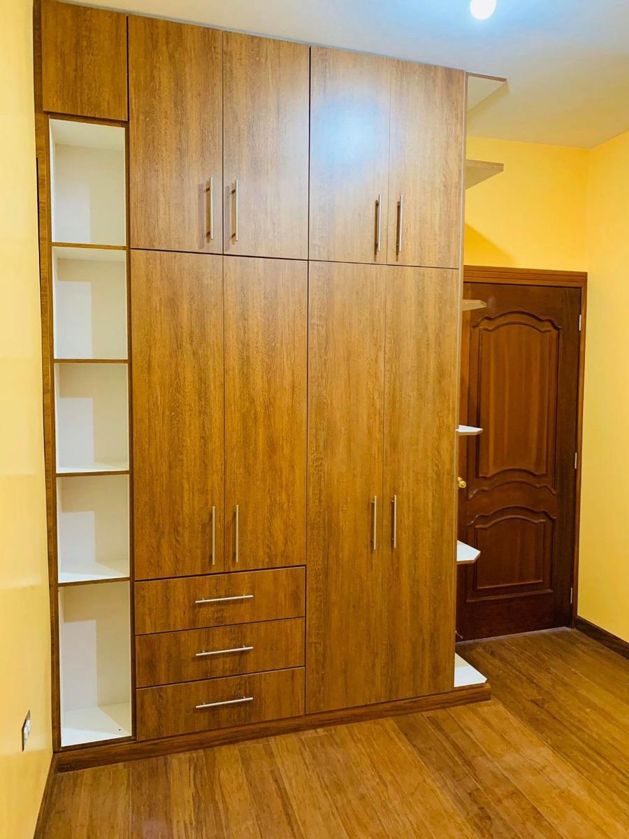 3 dormitorios, clóset, sala, comedor, cocina, lavanderia