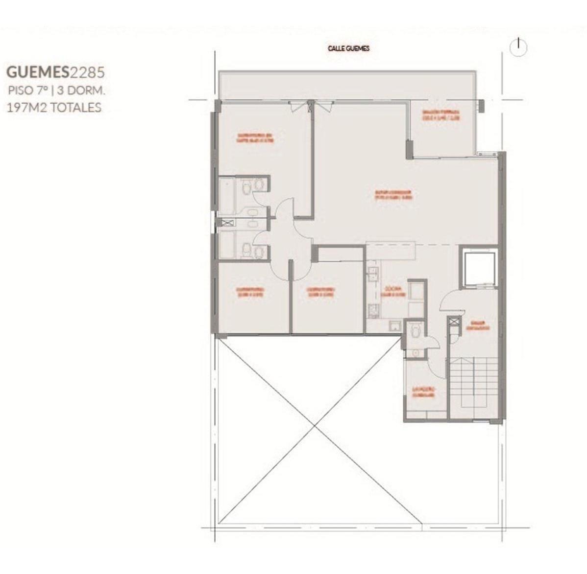 3 dormitorios impecable, guemes y oroño!