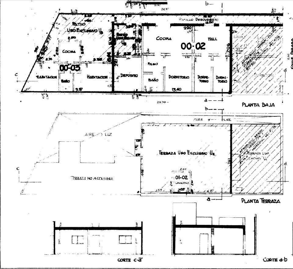 3 dormitorios   ph   terraza   patio