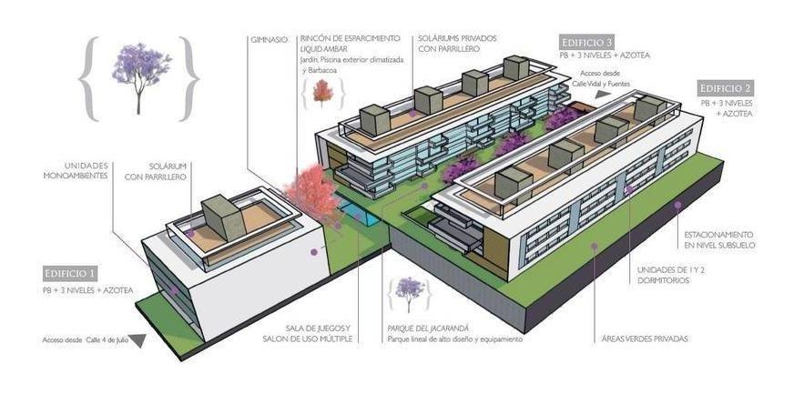 3 dormitorios | vidal y fuentes, dr a al 3000