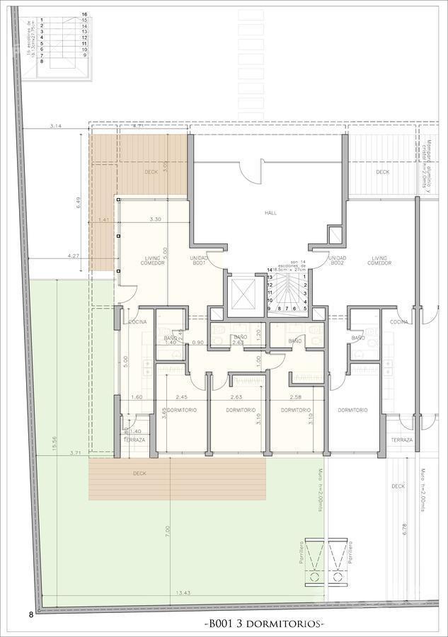 3 dormitorios   vidal y fuentes, dr a al 3000