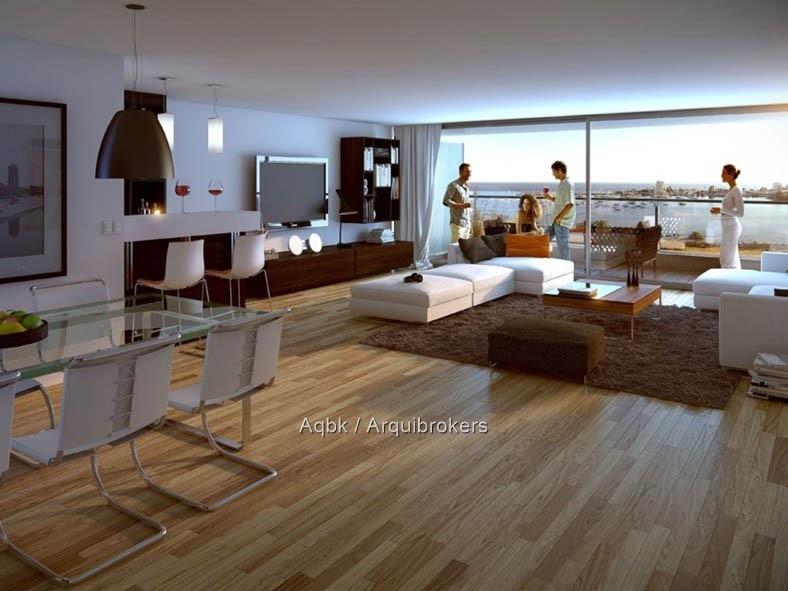 3 dormitorios y servicio con 3 garajes sobre rambla