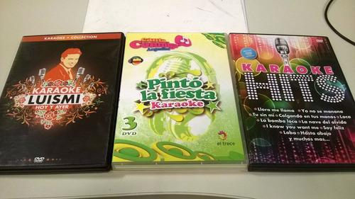 3 dvd karaoke luis miguel pinto la fiesta y hits