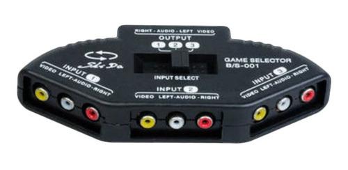 3-em 1-out auditivo vídeo av switcher splitter adaptador cab
