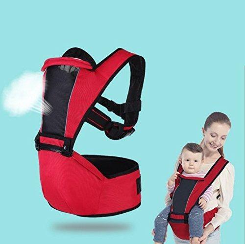 Nimnik Premium ergonómico de cadera asiento bebé portador Back Pack 4 en 1 delantera frente a