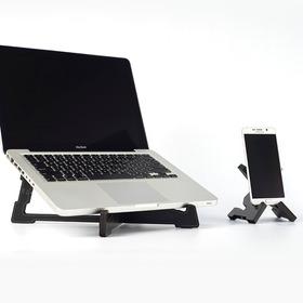 3 En 1 Soporte Notebook + Porta Celular + Pie De Streaming