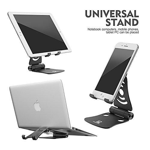 [3 en 1] soporte portátil plegable ajustable del teléfono ce