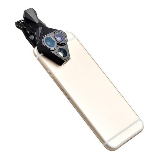 3- en -1 teléfono lente portátil presilla -on teléfono