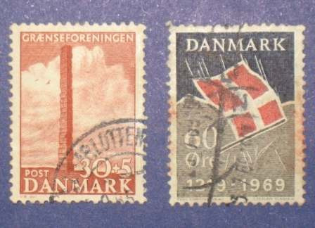 3 estampilla stamps dinamarca danmark 1 kr niels sten 60 ore