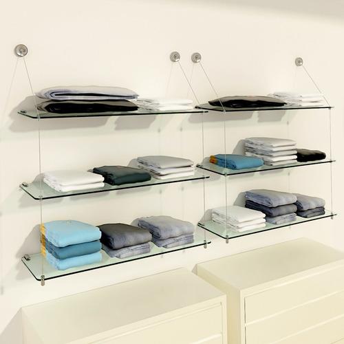 3 estantes vidrio y cable kit tensor temacasa de tensocable
