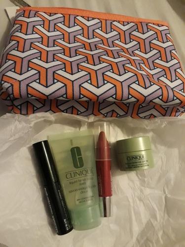3 estuches de regalo clinique crema mascara de pestañas y ot