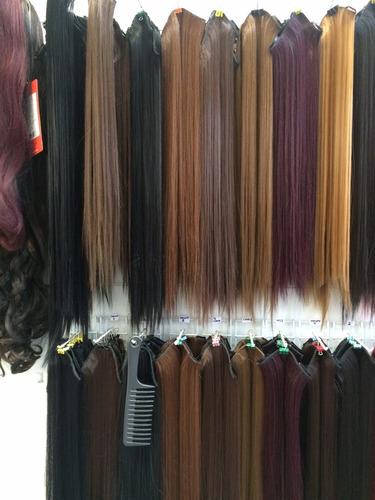 3 extensiones de cabello  lisas sinteticas