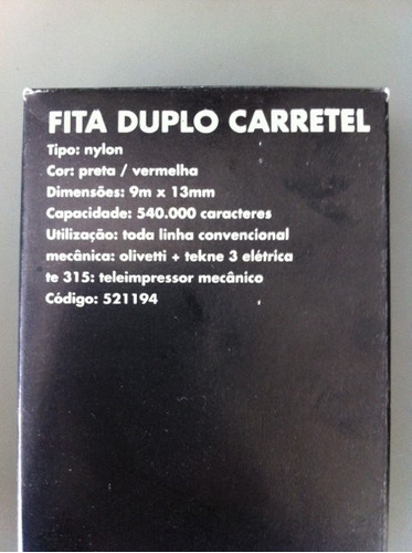 3 fitas-máquina escrever olivetti-brother deluxe-elgin