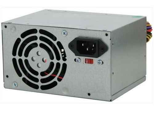 3 fonte s atx 450w 230w real 20+4 powerx caixa + cabo + nota