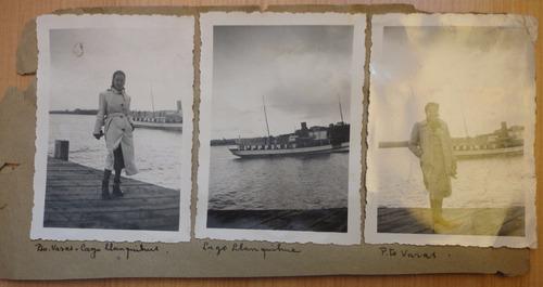 3 fotografías   antiguas de puerto varas,lago llanquihue