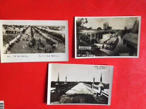 3 fotos postales antiguas de paso de los toros, al1c24