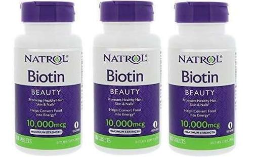 3 frasco biotina 300 tabletas  para cabello barba piel uñas