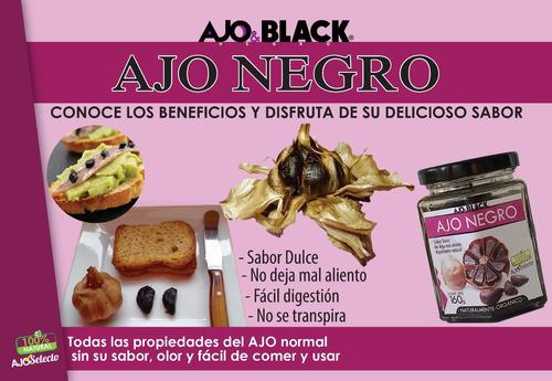 3 frascos de ajo negro de 160 gr. ajoblack original