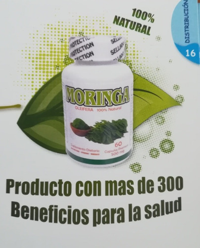3 frascos de moringa olifeira en capsulas bionature