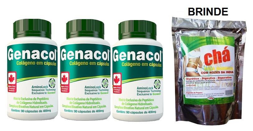 88e3229ce 3 frascos genacol original - peptídios de colageno + brinde. Carregando zoom .
