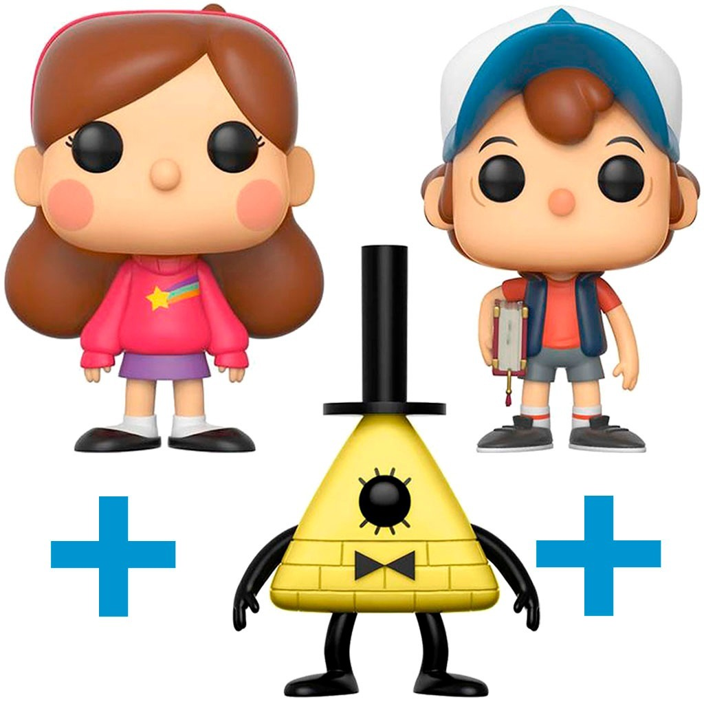 3 Funko Pop Bill Cipher Mabel Dipper Pines Gravity Falls