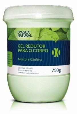 3 gel redutor 750g dagua natural redução