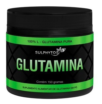 3 glutamina glutamine de 150g rende 90 doses  - sulphytos