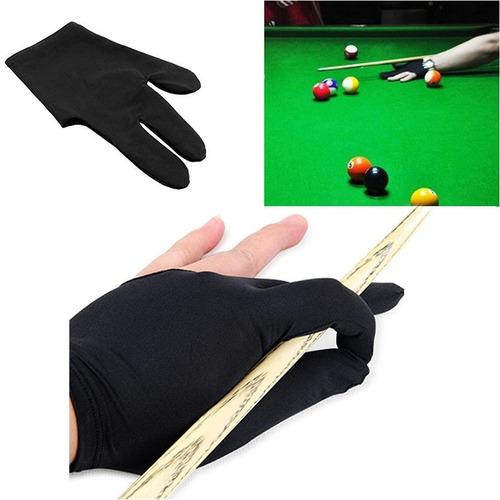 3 guantes mano izquierda 3 dedos guantes de billar