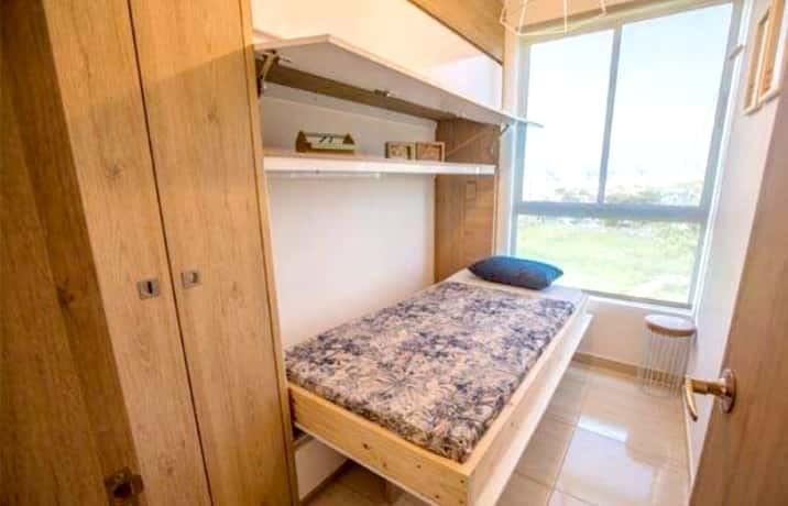3 habitaciones,2 baños zona de labores