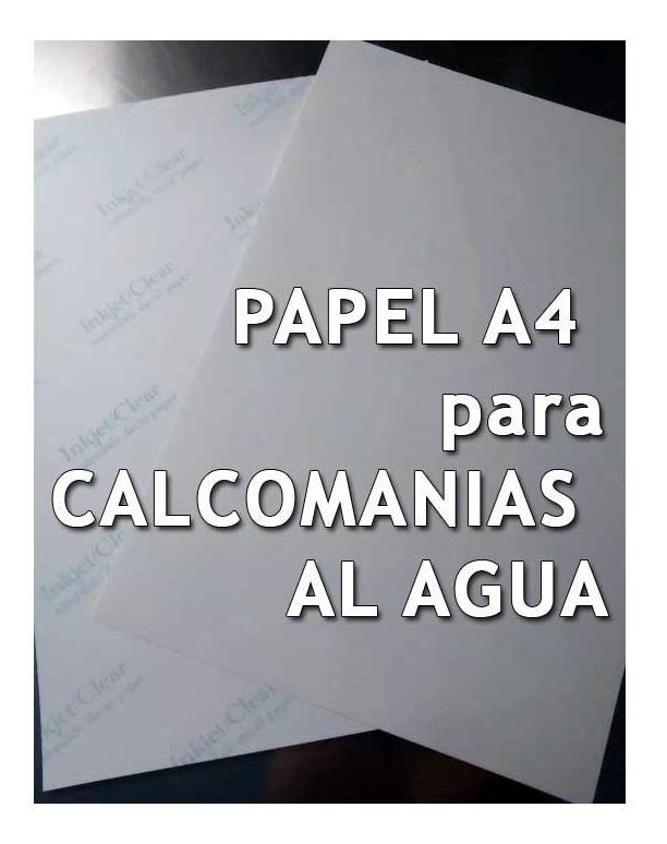 3 hojas A4 impresion LASER PAPEL para CALCAS al AGUA