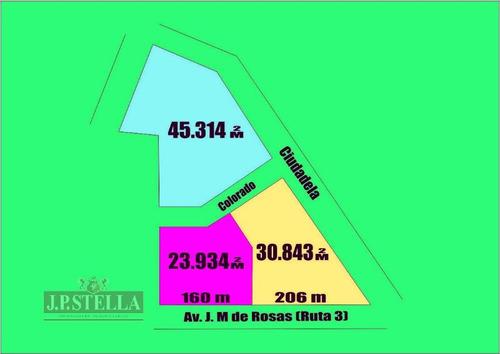 3 importantes fracciones - 2 con frente a ruta 3 km 38 - virrey del pino