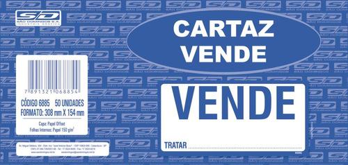 3 impresso administrativo cartaz vende-se 154x308mm c/50