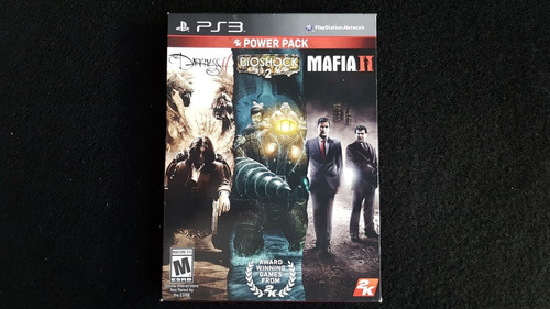 3 in 1 bioshock 2 darkness 2 mafia 3 ps3 seminovo