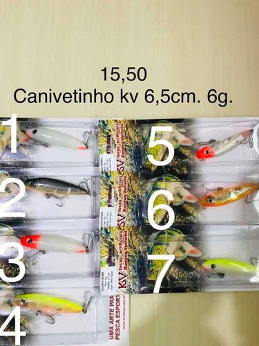 3 iscas artificiais pesca canivetinho kv varias cores